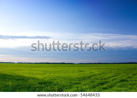 Summer landscape shot at dawn - stock photo