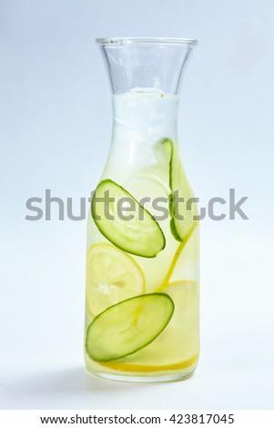 summer lemonade isolated - stock photo
