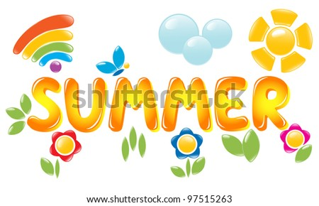 Summer letters - stock photo