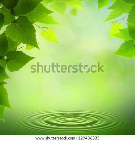 Summer morning. Abstract environmental backgrounds - stock photo