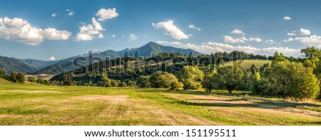summer mountain landscape, Low Tatra mountain, Slovakia