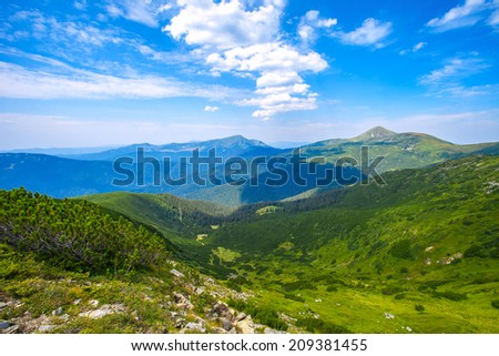 Summer mountains landscape.