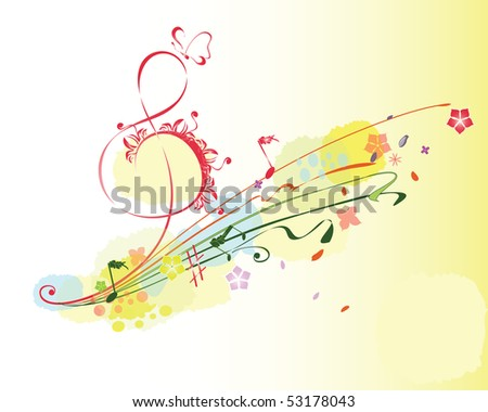 Summer music - stock photo