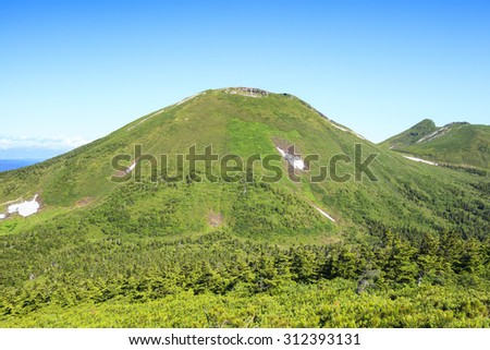Summer of Mt.Hakkodasan, Aomori Prefecture, Japan - stock photo