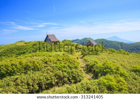 Summer of Mt. Shirakamidake, World Heritage, Shirakami-Sanchi, Aomori, Japan - stock photo