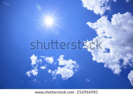 Summer of sun and clouds