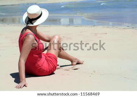 summer on the shores of the ocean