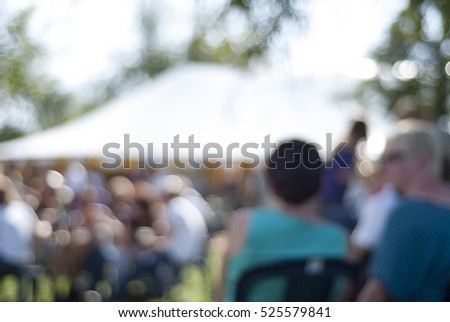 Summer outdoor festival - hazy background