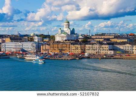 Summer panorama of Helsinki, Finland - stock photo