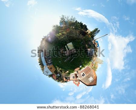 Summer planet - stock photo