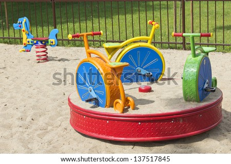 Summer playground, full of attraction. - stock photo