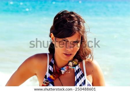 Summer Portrait - stock photo