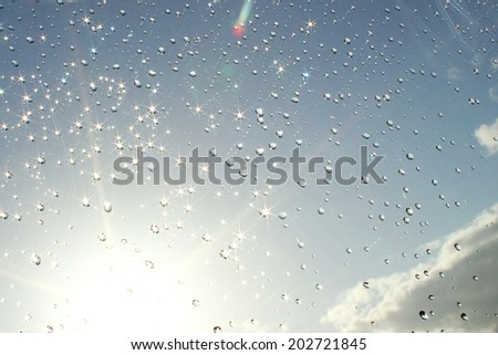 summer rain shower - stock photo