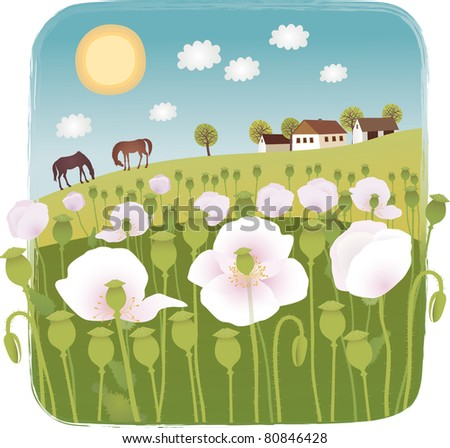 Summer Raster image. - stock photo