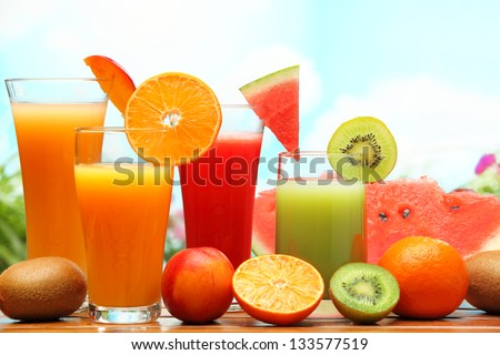 Summer refreshing juice