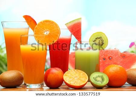 Summer refreshing juice - stock photo