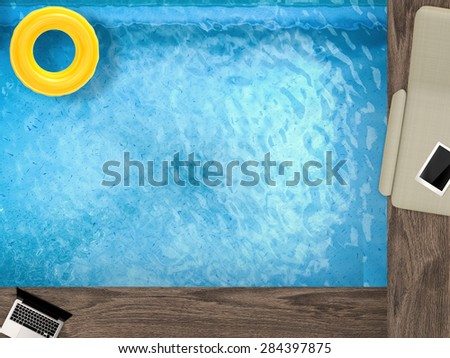 summer relaxation - stock photo