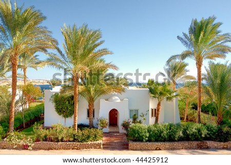 Summer residence red sea coast - stock photo