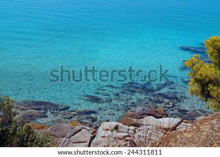 Summer resort of Halkidiki peninsula in Greece - stock photo