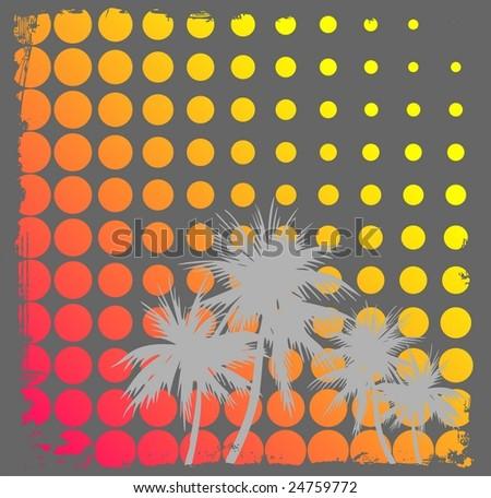 Summer retro design - stock photo