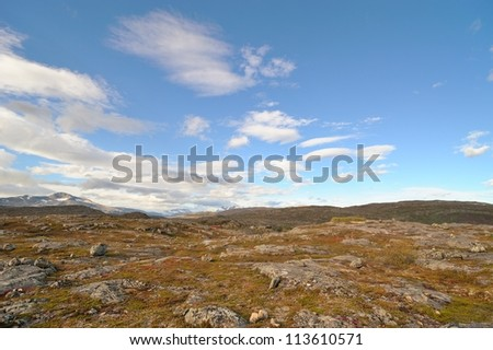 Summer rocky mountain landscape - stock photo