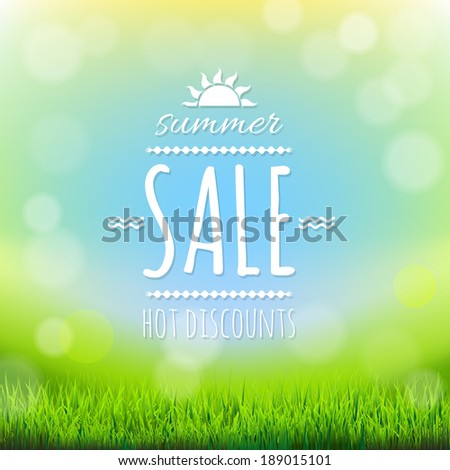Summer Sale Banner - stock photo