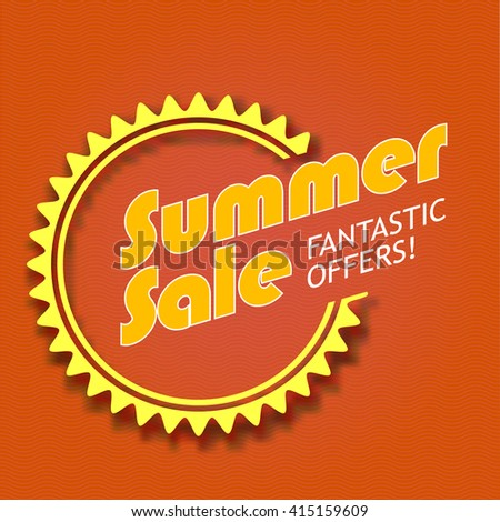 Summer sale, fantastic offers. Colorful advertising banner