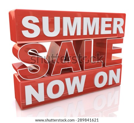 Summer Sale Now On  - stock photo