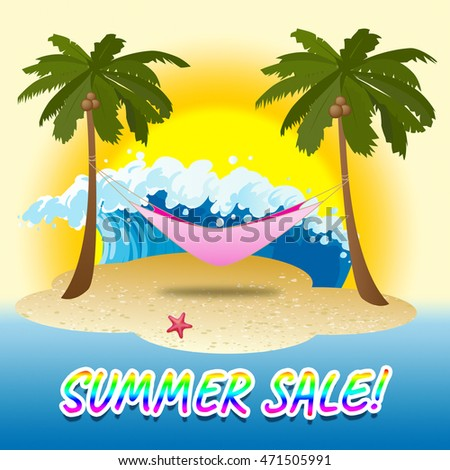 Summer Sale Retail Offering Beach Discount Promotions