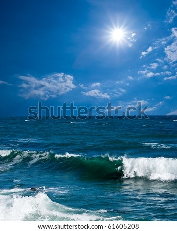 summer sea landscape - stock photo