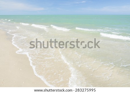 Summer sea wave and beach