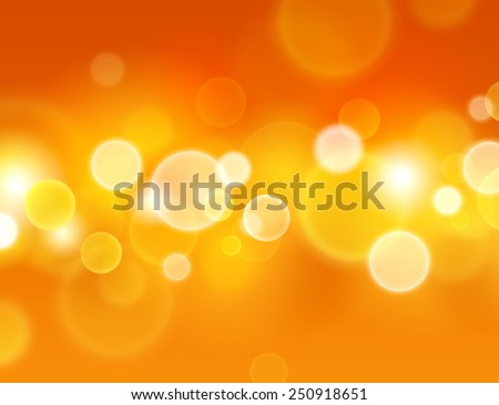 Summer sensation. Abstract warm background with glowing light circle effects - stock photo