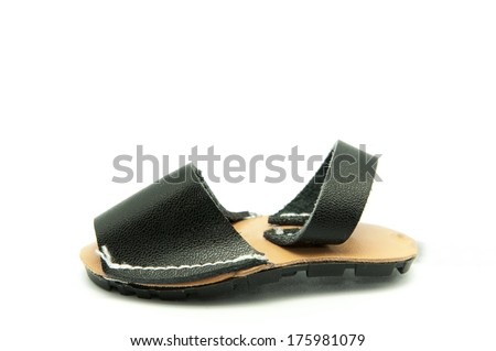 Summer shoe on a white background