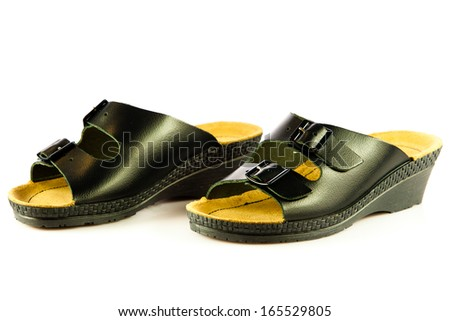 summer shoes isolated on white background. casual