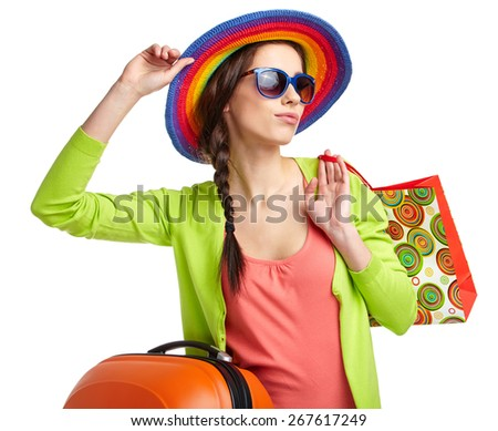 Summer shopping - stock photo