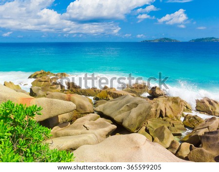 Summer Shore Storm  - stock photo
