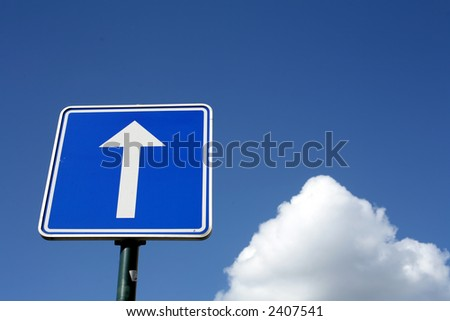 summer sky with nice cloud formation and traffic  sign close up of old collection vintage cars