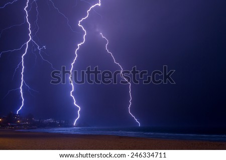 Summer storm - stock photo
