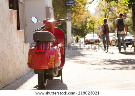 Summer street view - stock photo