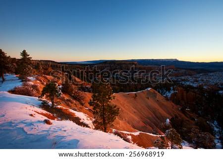 Summer sunrise in Bryce Canyon, Utah, USA. - stock photo