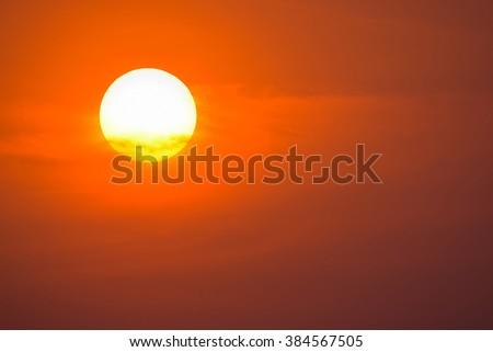 Summer sunset. - stock photo
