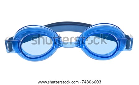 Summer Swim Mask Goggles Isolated on White with a Clipping Path.