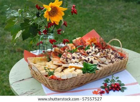 summer table - stock photo