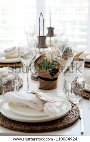 summer table setting lunch stock photo 110084924 - shutterstock