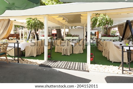 Summer terrace cafe  - stock photo