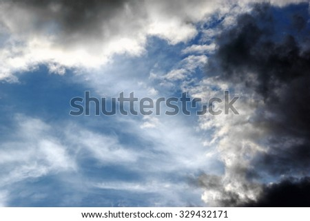 Summer Thunderstorm Clouds Background Texture - stock photo