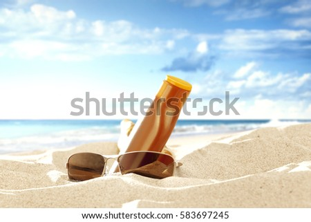 Summer time and background of sea and sand