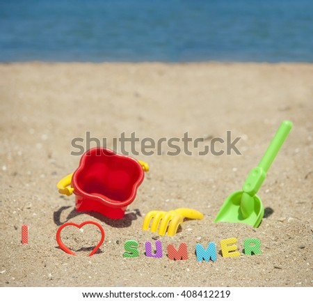 Summer time concept. Image with shallow depth of field - stock photo