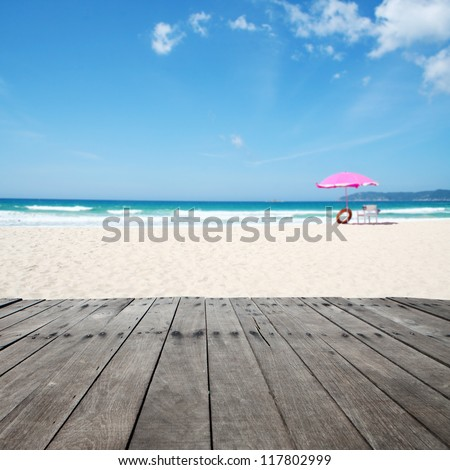 summer time in beach - stock photo