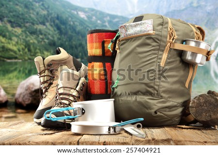 summer trip and mountins  - stock photo
